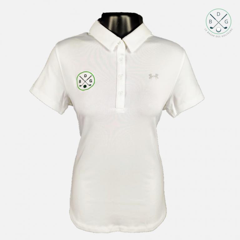 Le polo de golf Under Armour femme Le Bazar des Golfeurs blancTextile femme