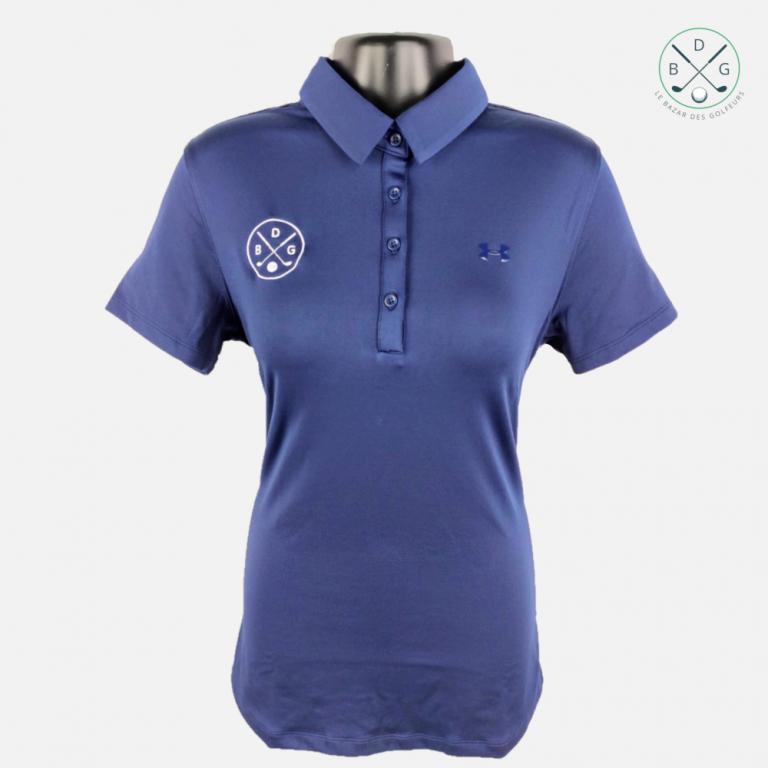 Polo UA Zinger manches courtes Femme BDG Bleu MarineTextile femme
