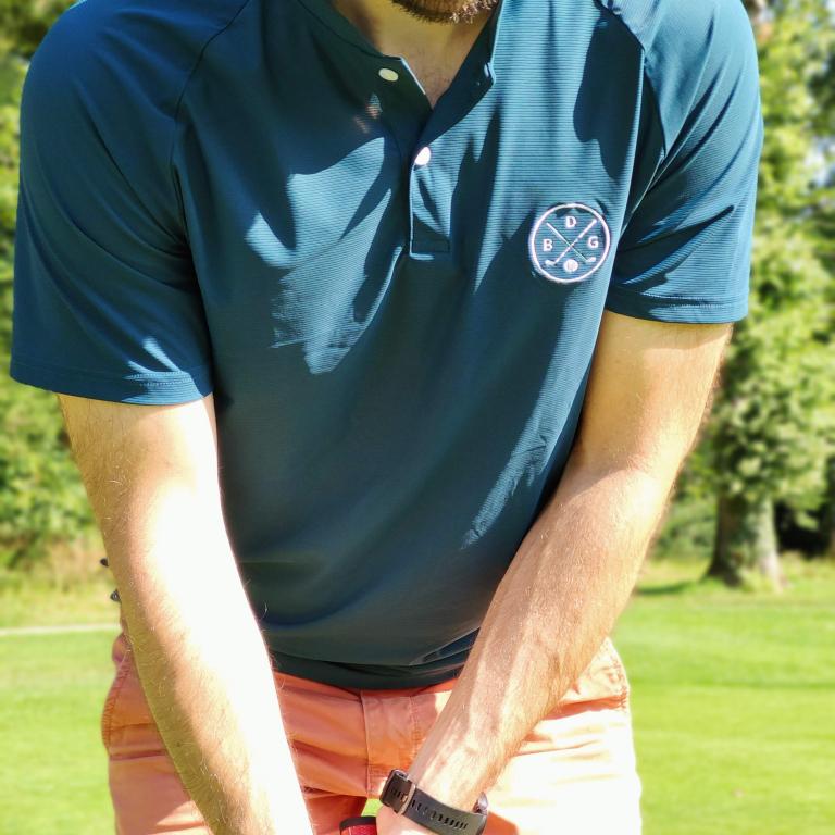 Le polo de golf technique bleu pétrole Le Bazar des GolfeursTextile homme