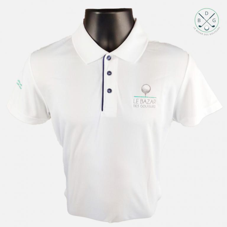 Le polo blanc de golf Le Bazar des GolfeursFin de série