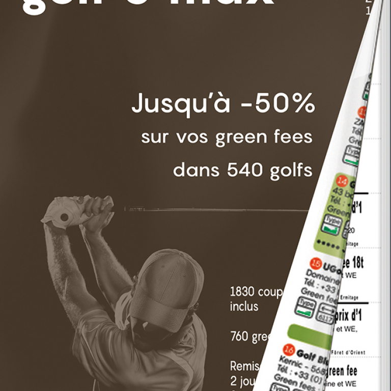GOLF O MAX Carnet papierOffres partenaires