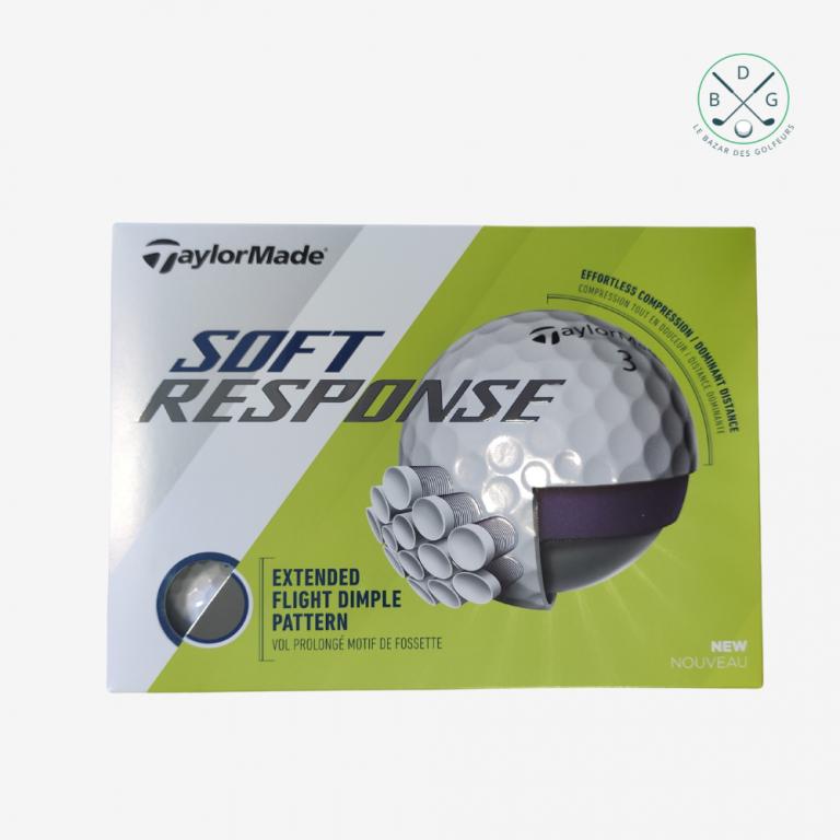 Balles de golf (12 quantités) TaylorMade SOFT RESPONSE logotées BDGAccessoires